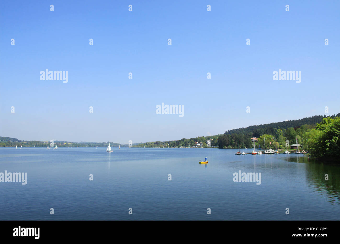 artificial lake fresh water lake - Stock Image