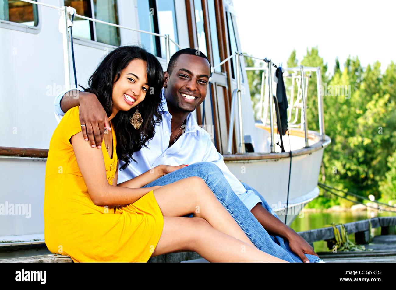romantic yacht boat - Stock Image
