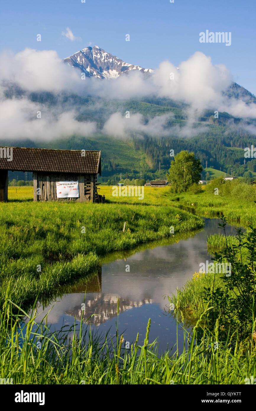 landscape - zell am see,austria Stock Photo