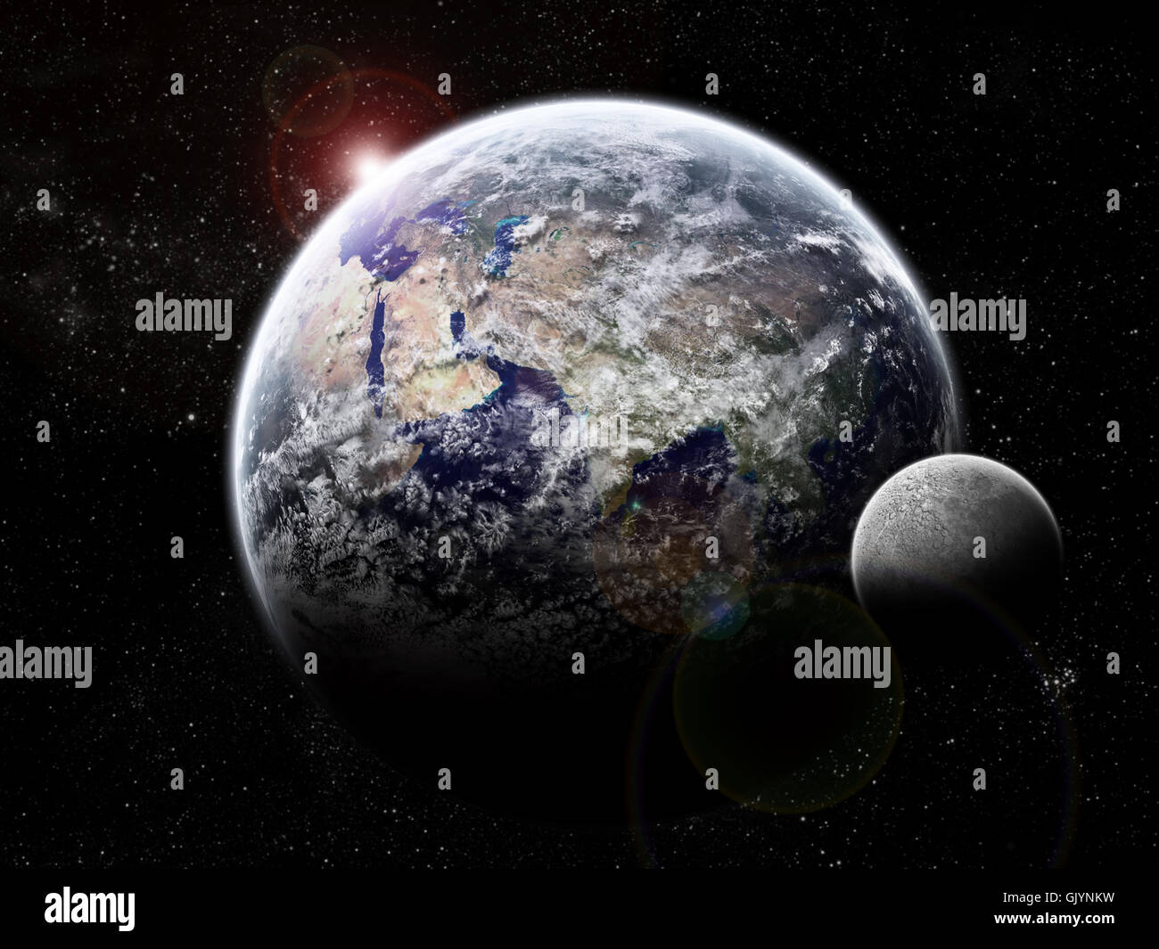 space moon darkness Stock Photo