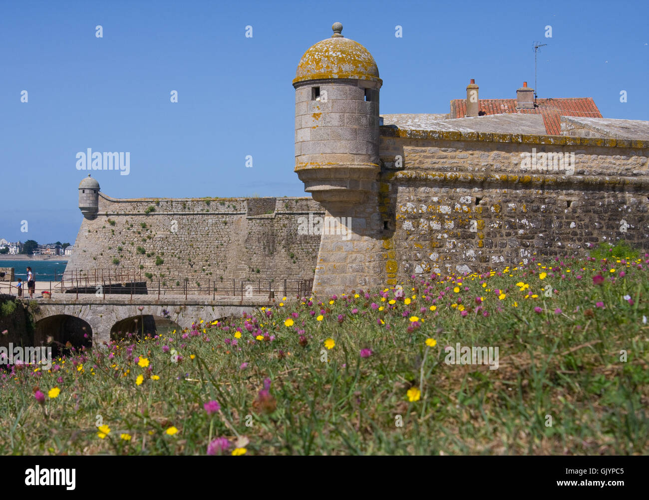 tower fortress blockhouse Stock Photo