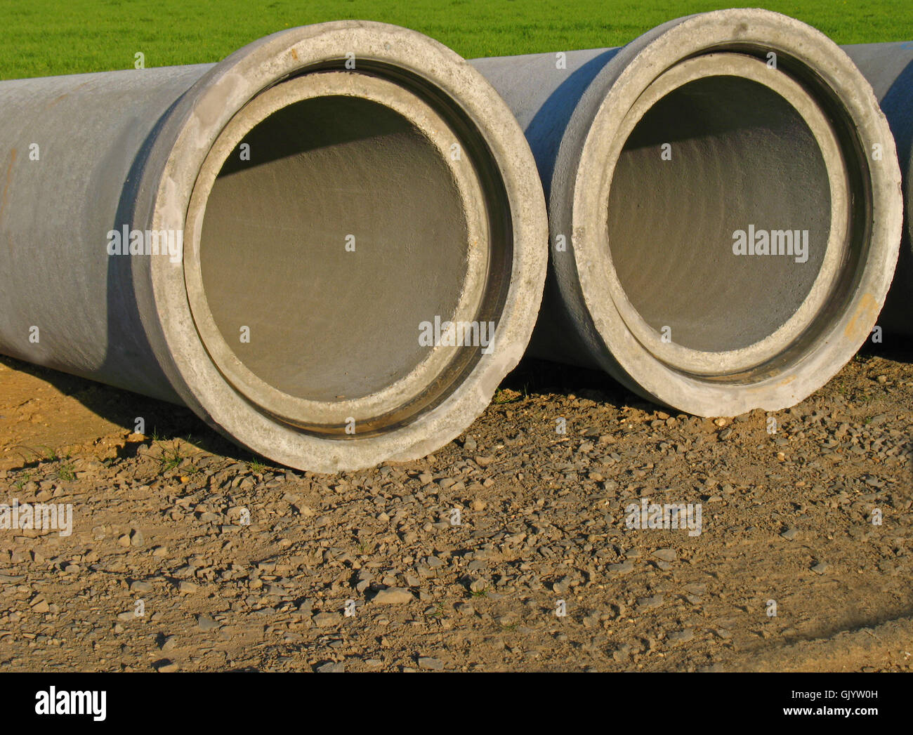 channel sewerage civil engineering - Stock Image