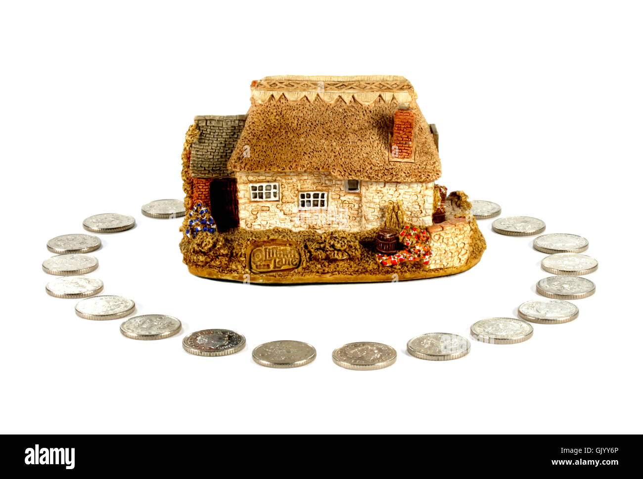 House home insurance - Stock Image