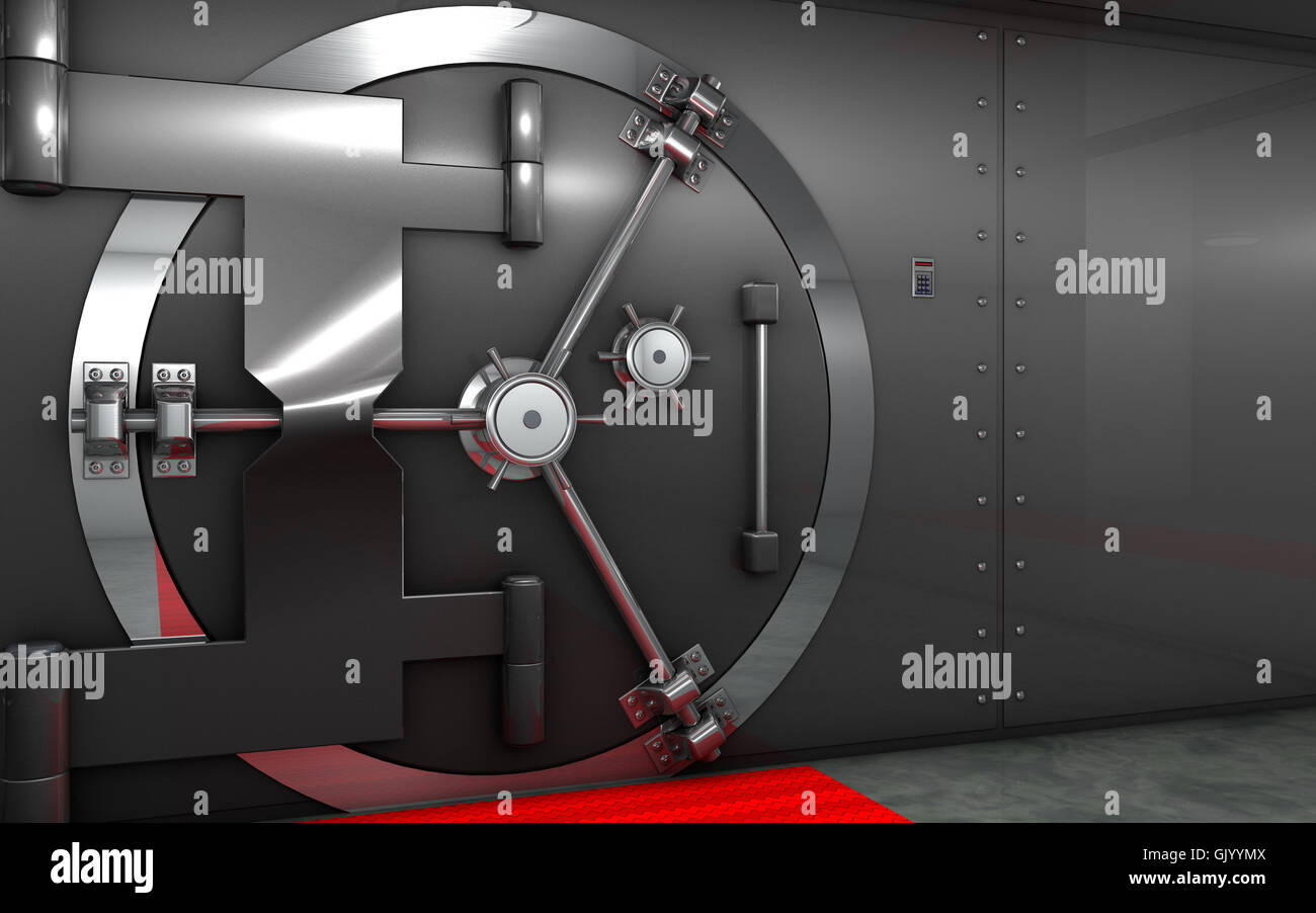 safe ability vault - Stock Image