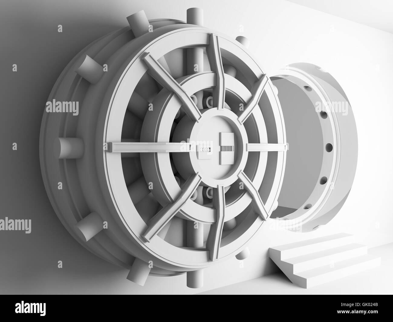 bank lending institution model - Stock Image