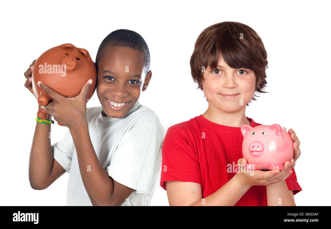 savings delighted unambitious - Stock Image