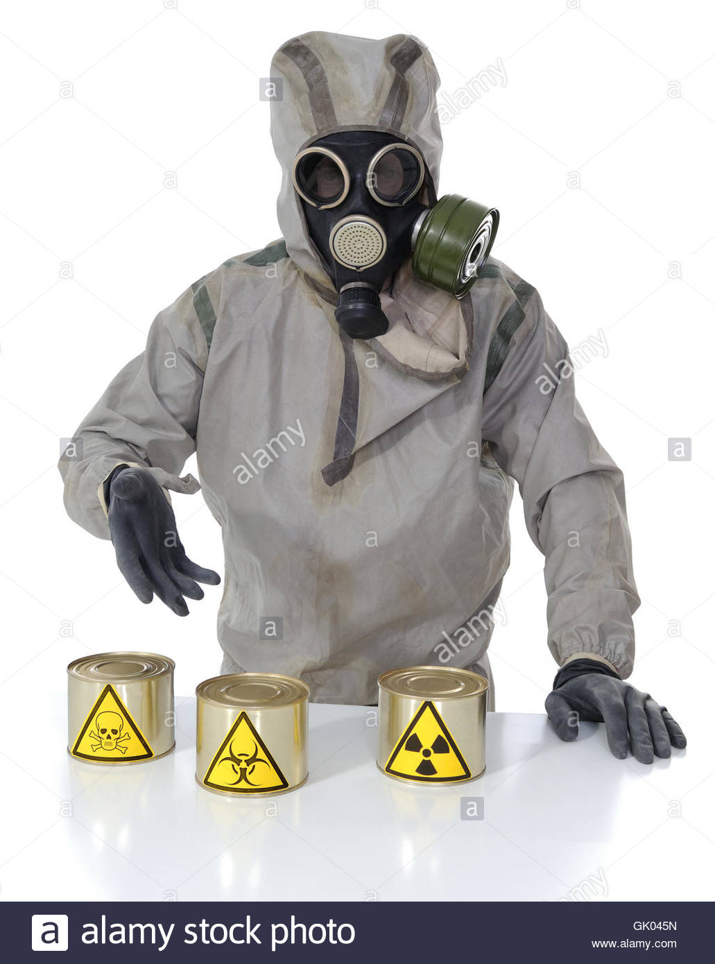 The person and dangerous canned - Stock Image