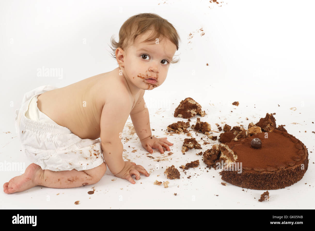 baby confusion mess - Stock Image
