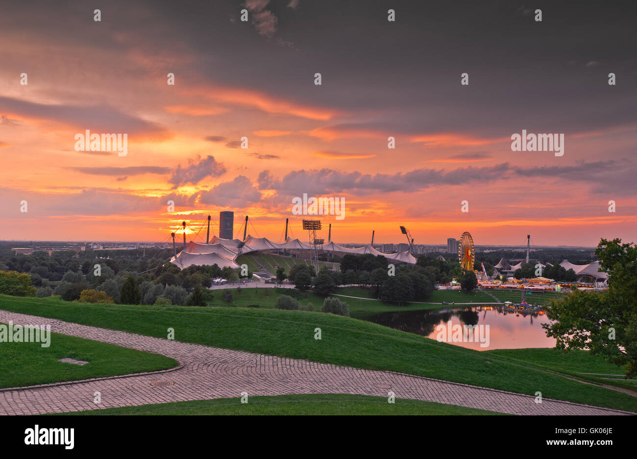 olympiapark - Stock Image