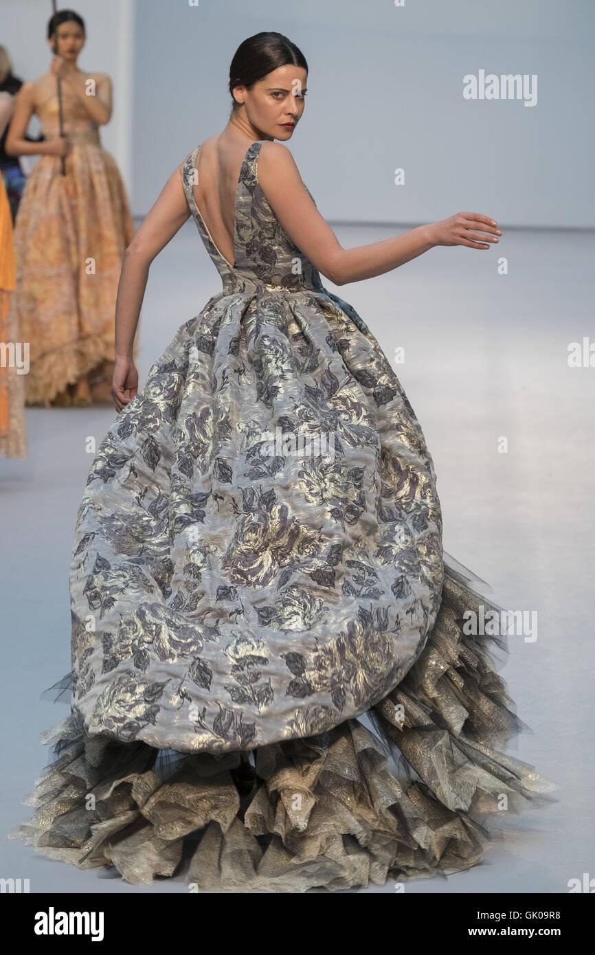 ea421bc66 De la Cierva y Nicolas Bridal Show - Pasarela Costura held at the Cibeles  Palace Featuring  Model Where  Madrid