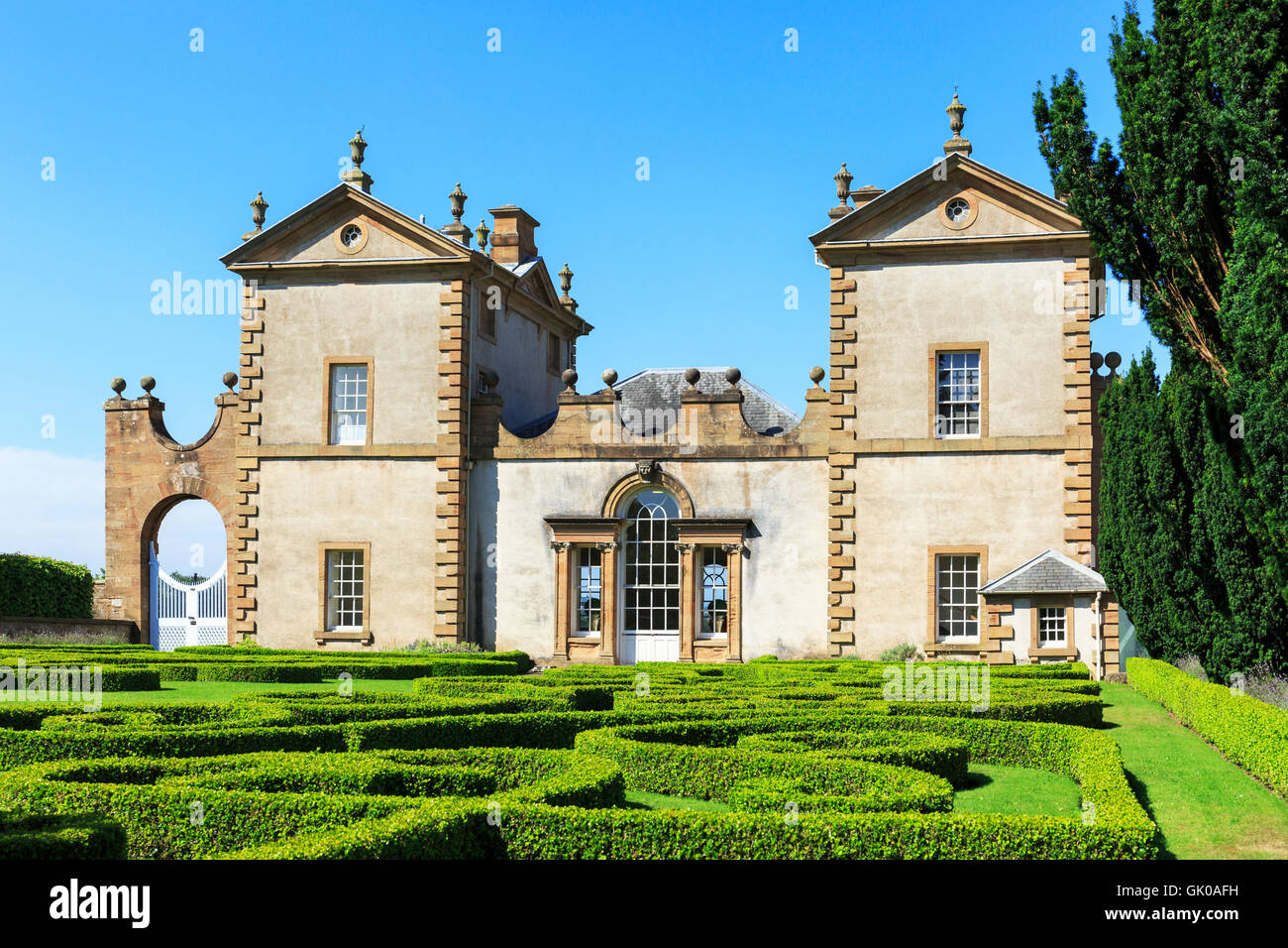 Chatelherault House, near Hamilton, Lanarkshire, 18th  century palladian built house, designed by William Adam - Stock Image