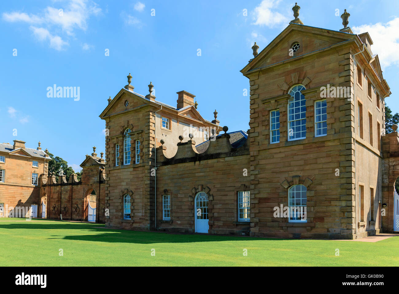 Chatelherault House, near Hamilton, Lanarkshire, 18the century palladian built house, designed by William Adam - Stock Image