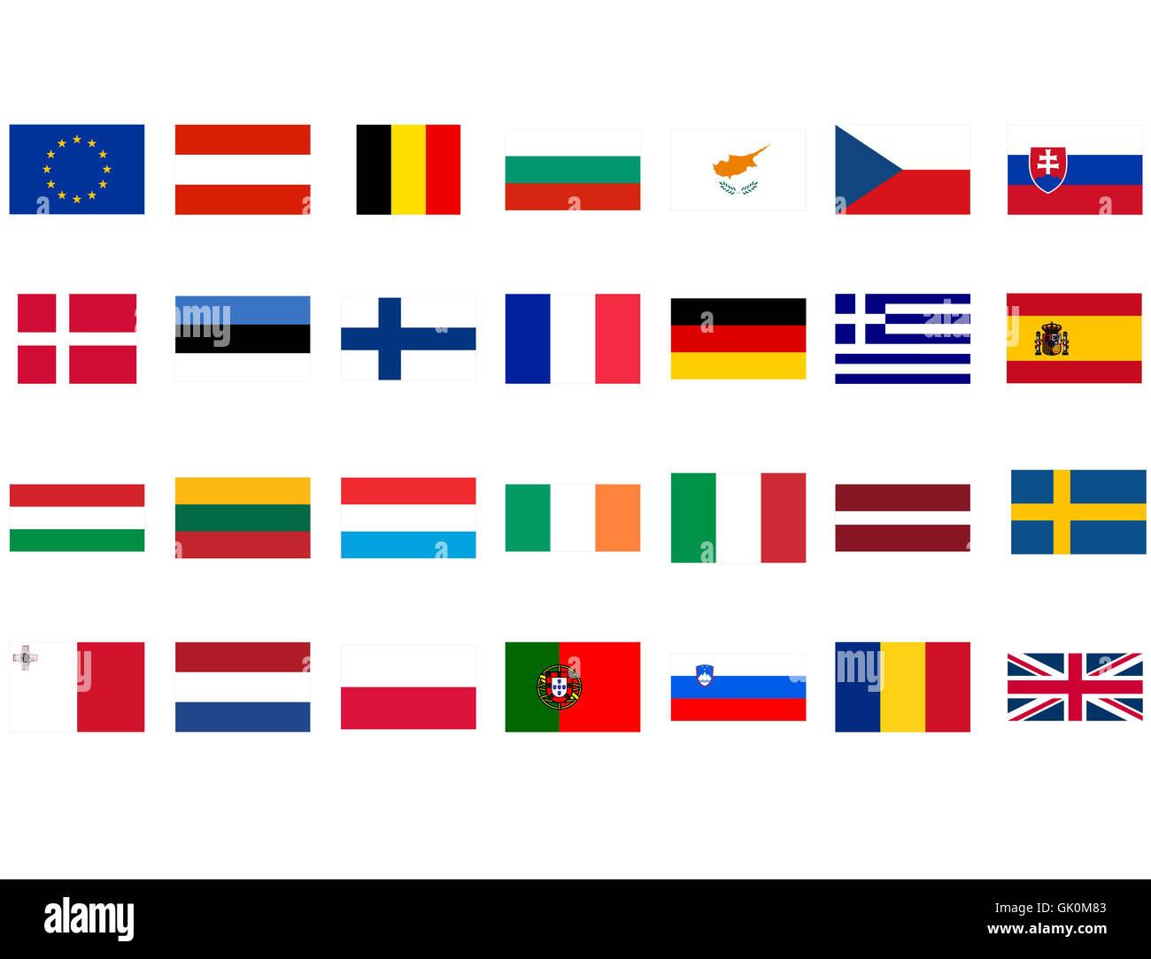 isolated blank european - Stock Image