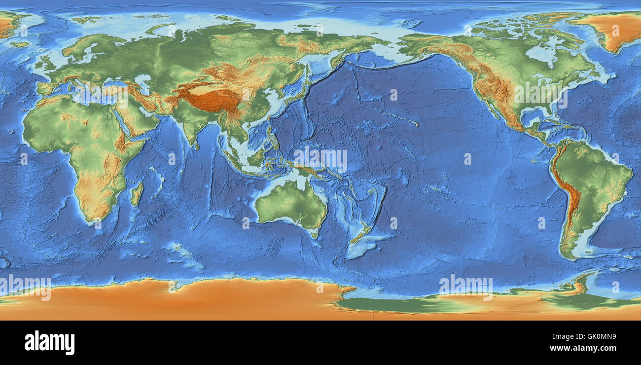 Asia Pacific Map High Resolution Stock Photography And Images Alamy