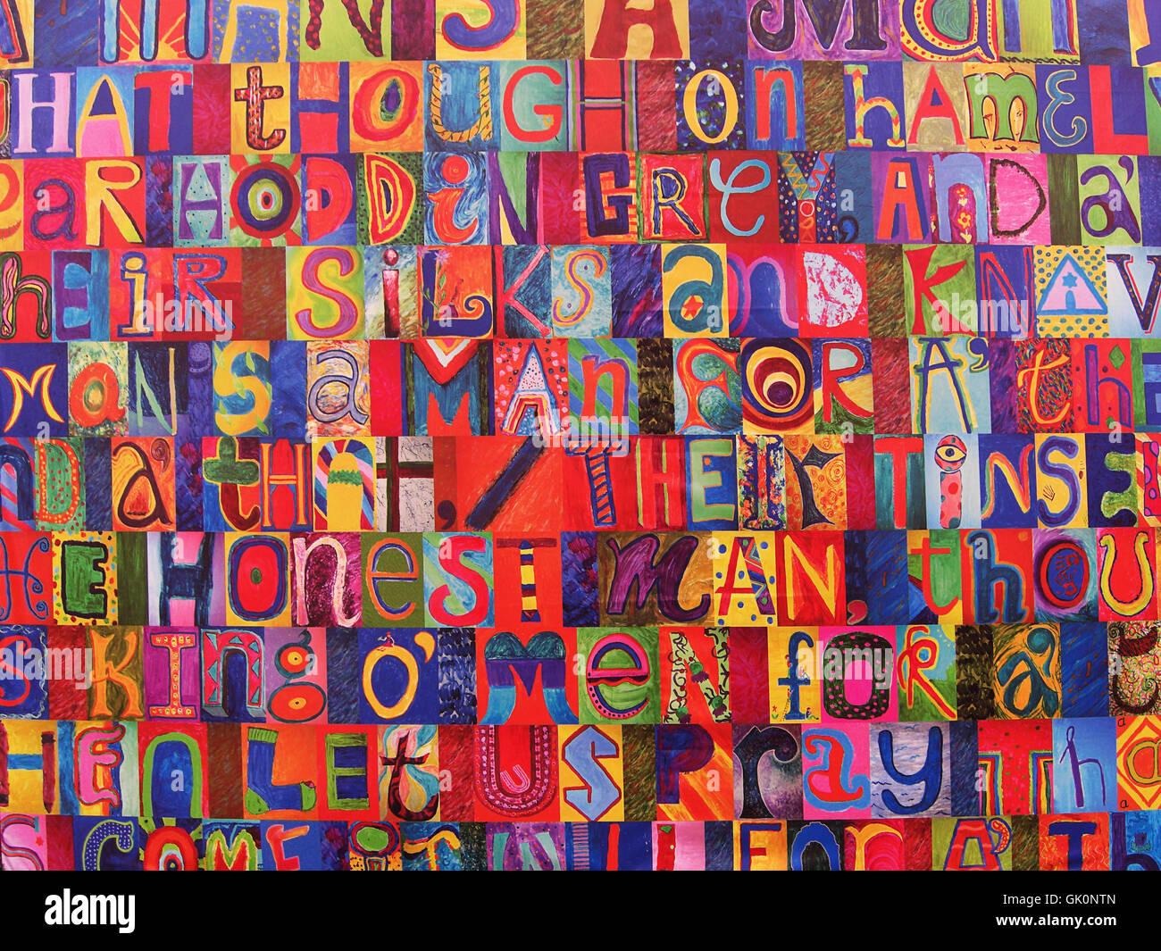 art daub graffiti - Stock Image