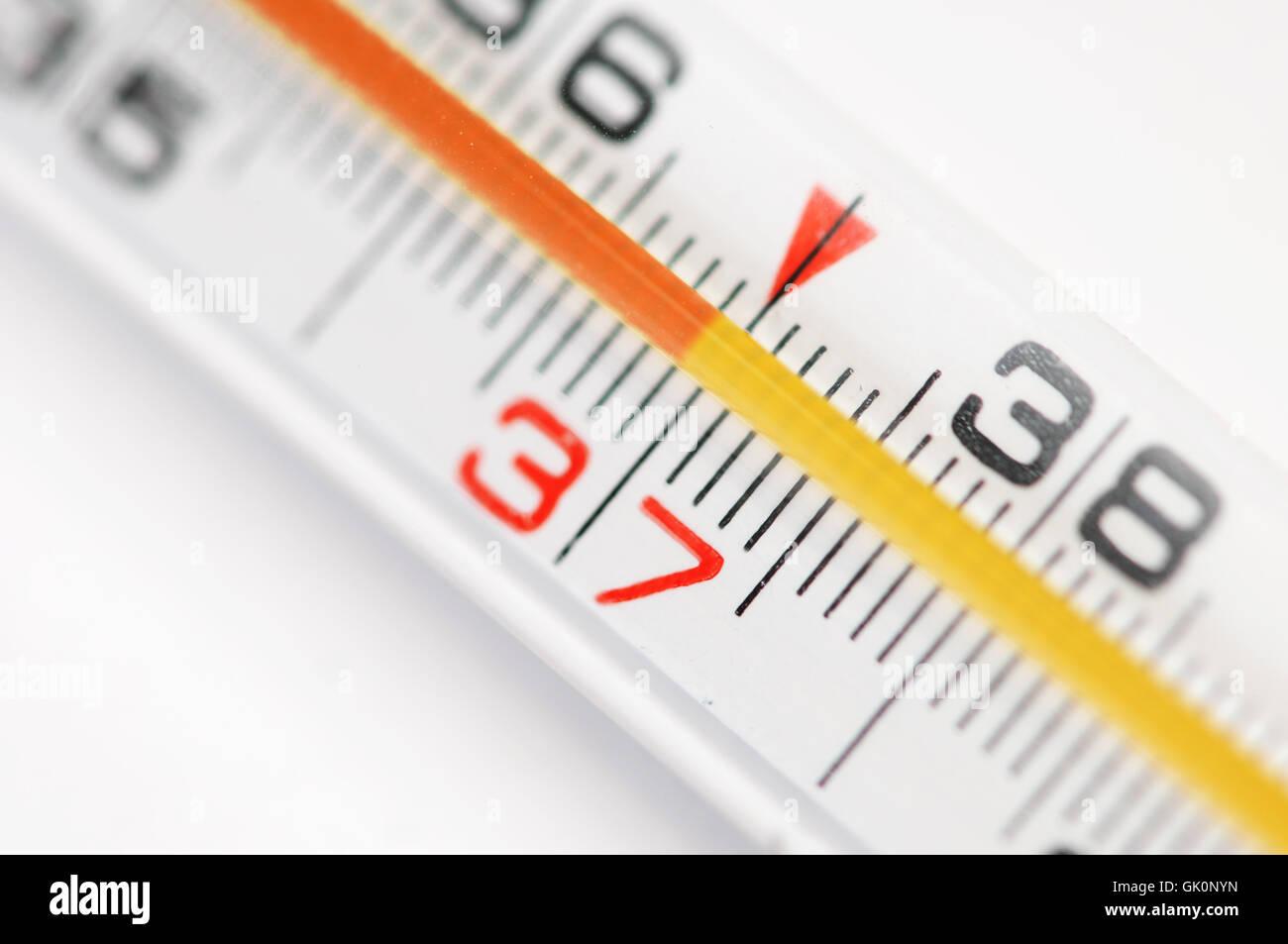 measurement temperature thermometer - Stock Image