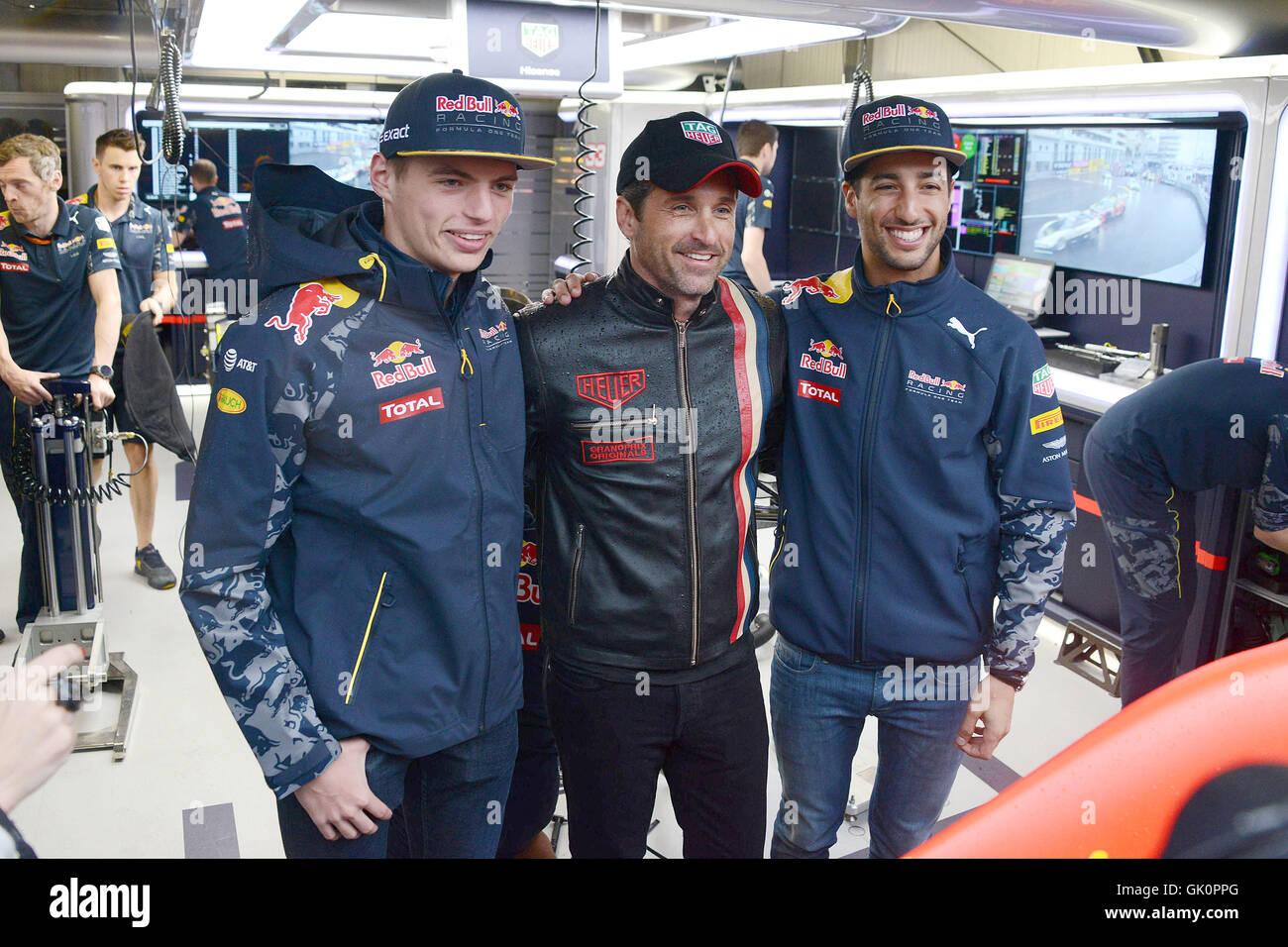 2016 Formula One Monaco Grand Prix Featuring Max Verstappen Stock