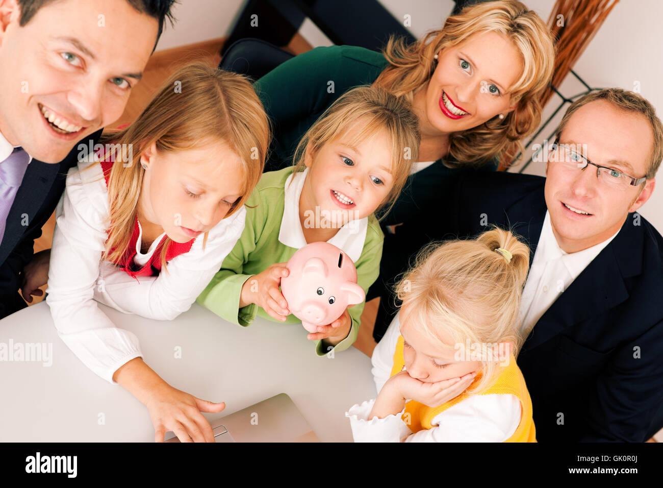 family and consultants insurance - Stock Image