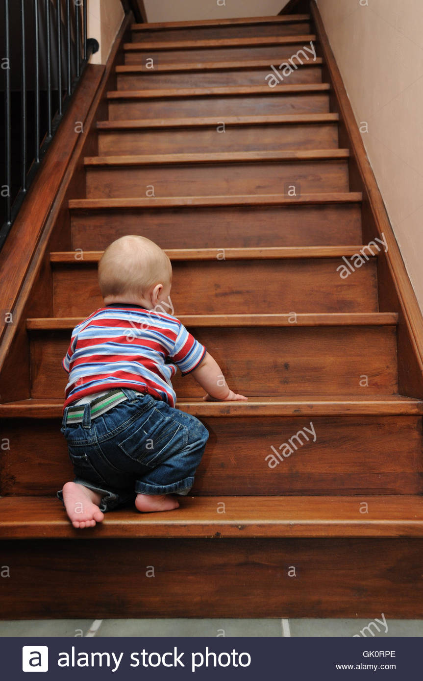 stairs humans human beings - Stock Image