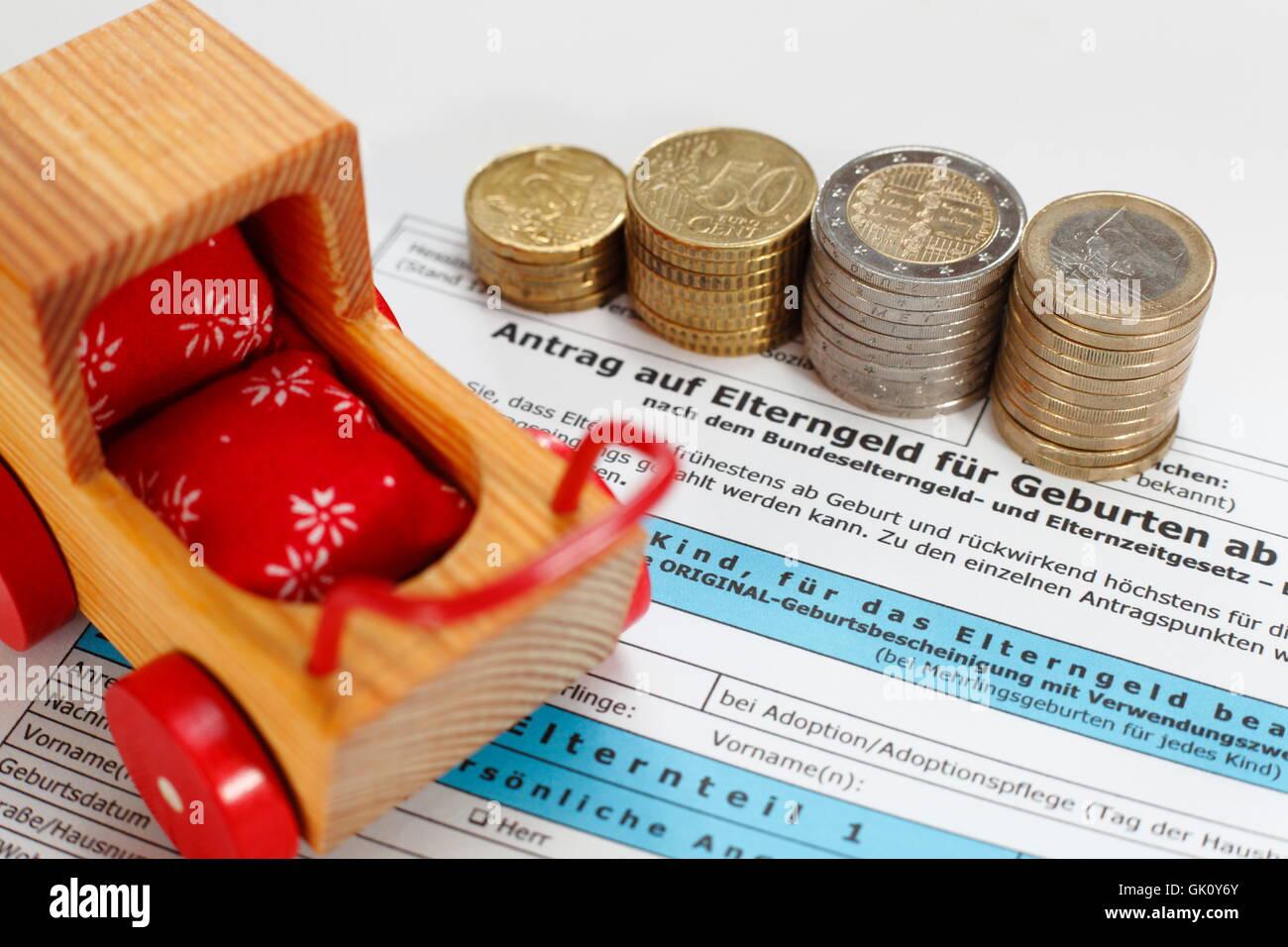 parental allowance request - Stock Image