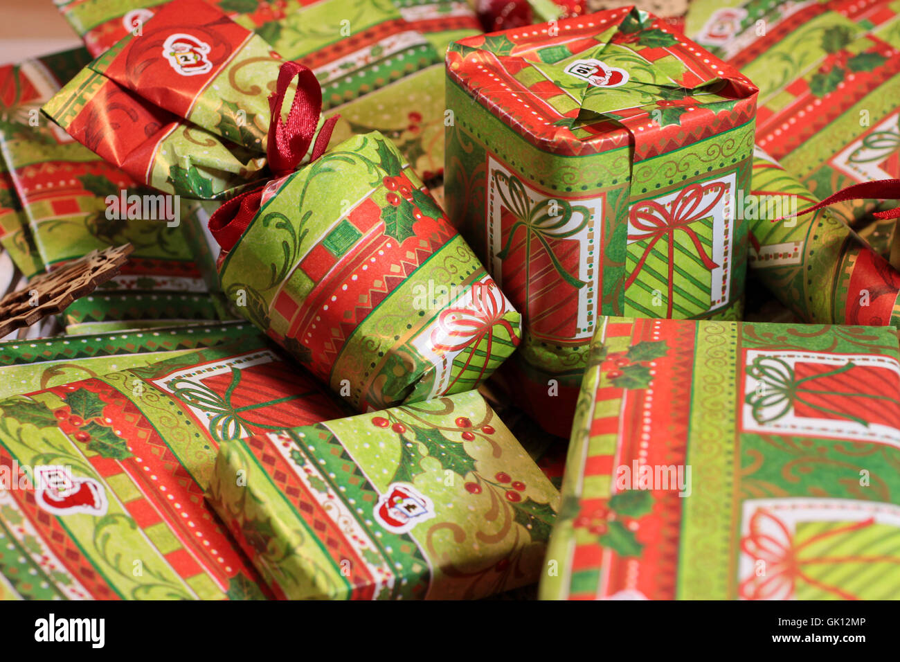 christmas decoration gifts - Stock Image