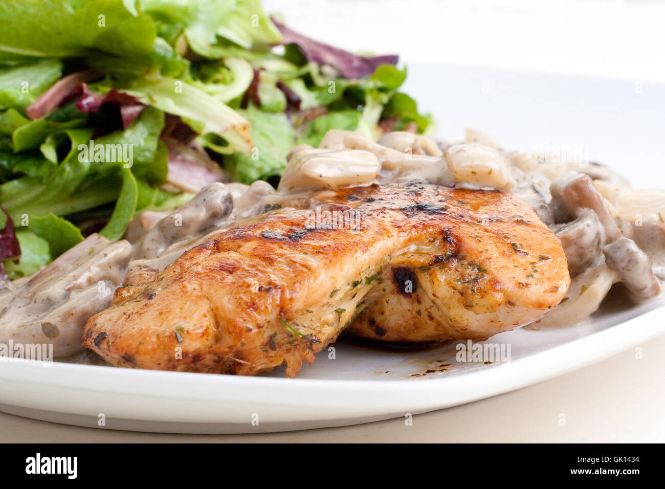 green sauce poultry - Stock Image