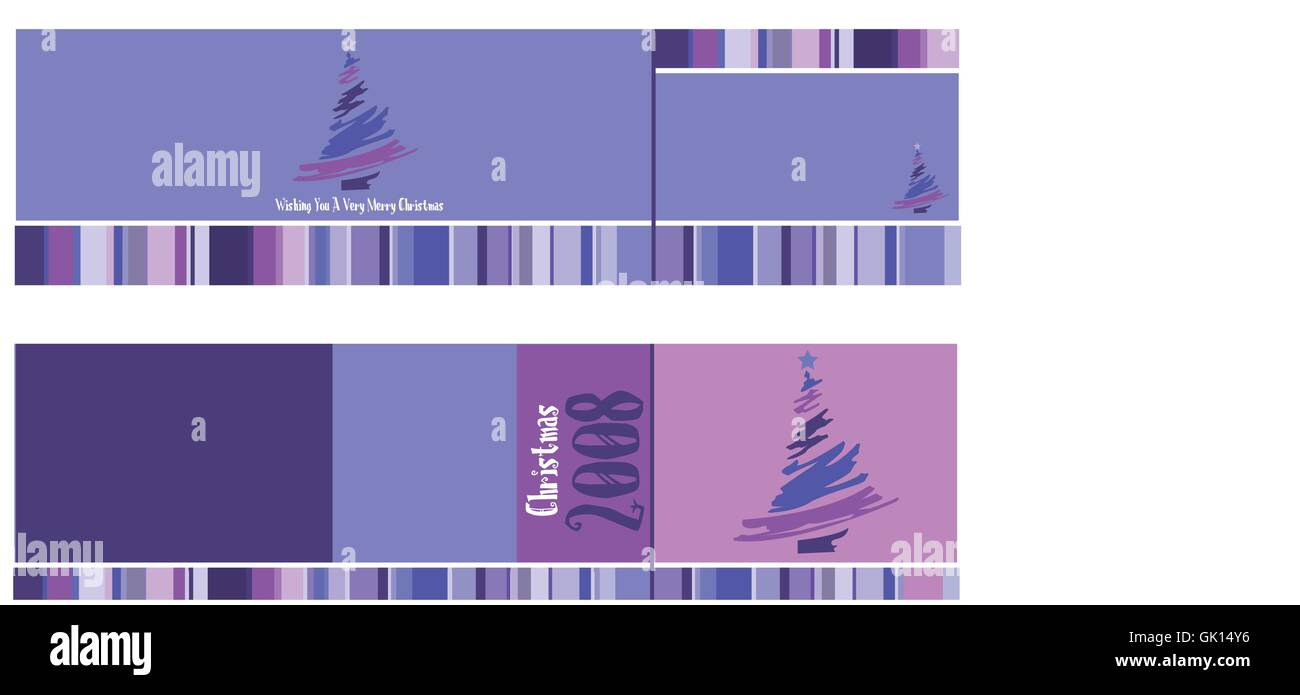 Christmas Card Purple - Stock Vector