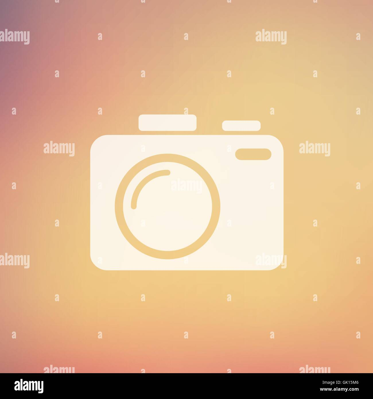 SLR Camera in flat style icon - Stock Vector