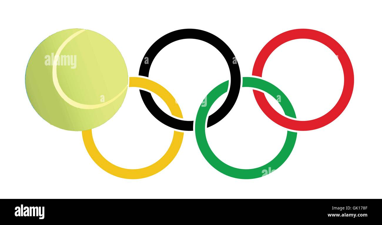 Olympic Tennis - Stock Image