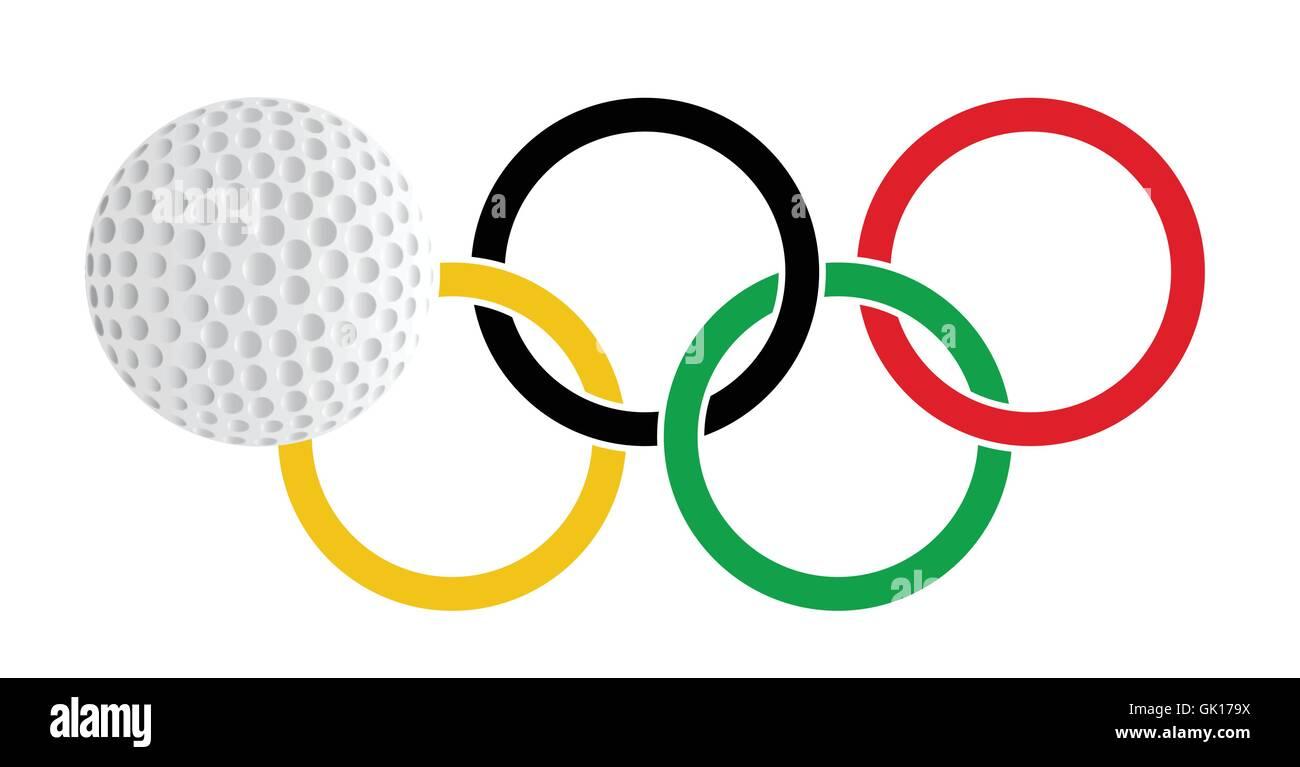 Olympic Golf - Stock Vector