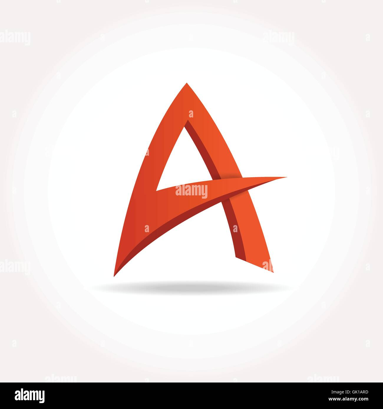 Letter A Abstract template logo design. Vector logotype - Stock Image