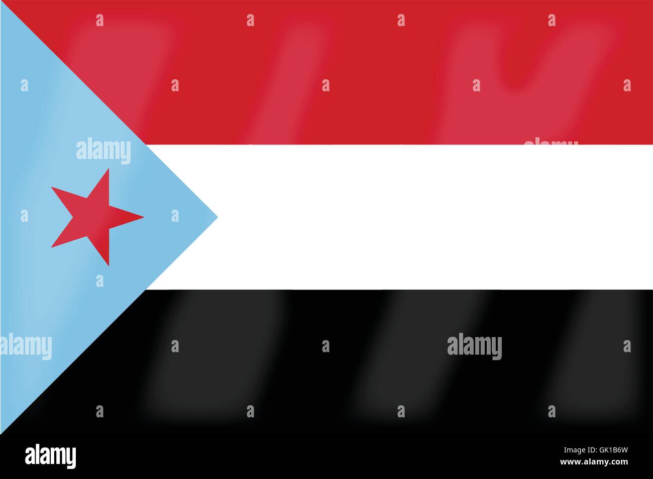 Yemen Flag Stock Vector