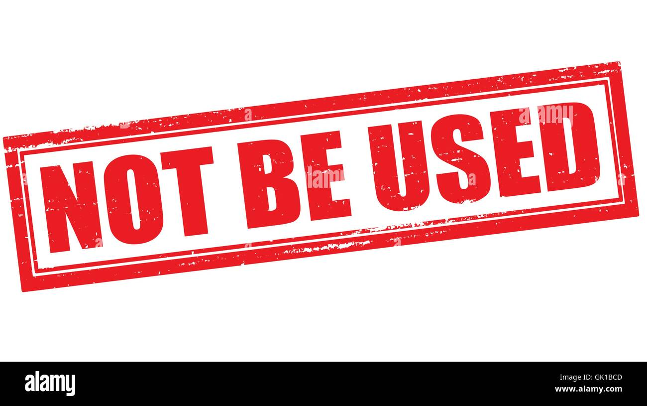 Not be used - Stock Vector