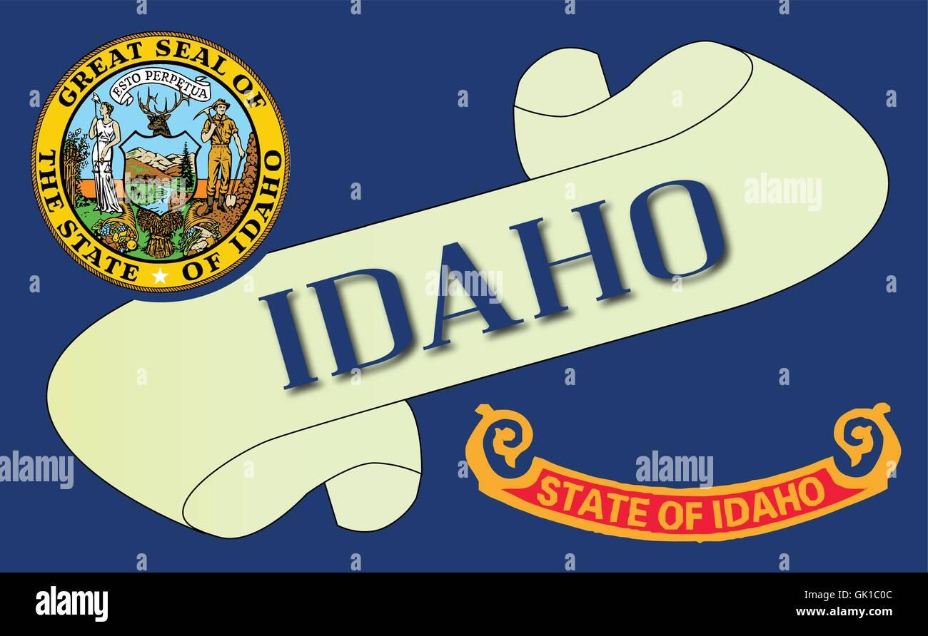Idaho Scroll - Stock Vector