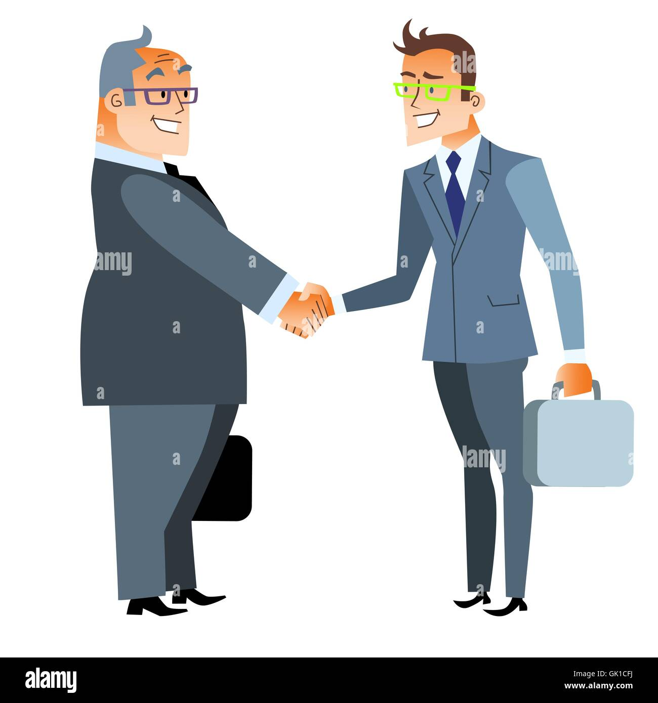 Business handshake deal. Finance and contract - Stock Image