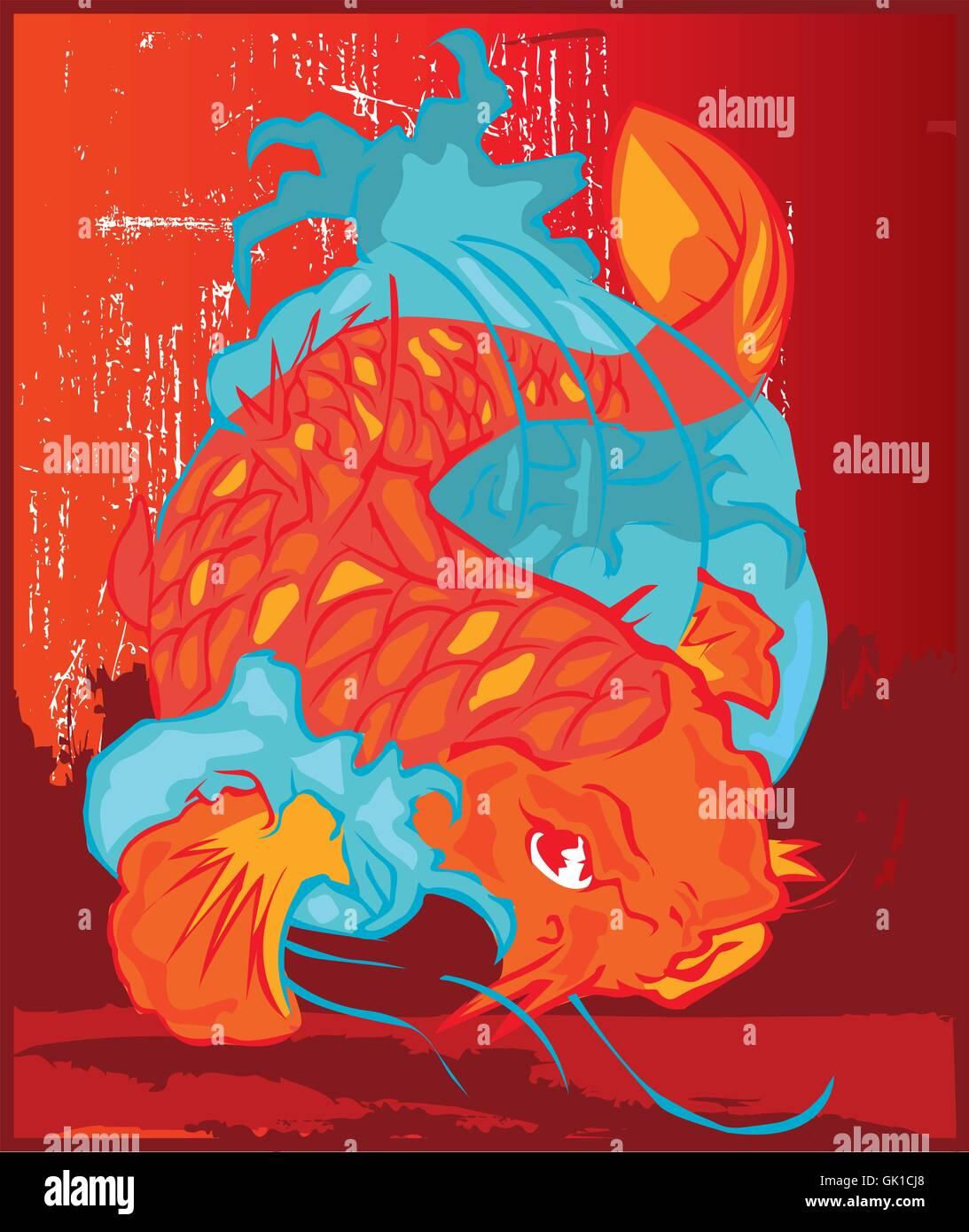 Koi Fish Stock Vector Art & Illustration, Vector Image: 114972544 ...