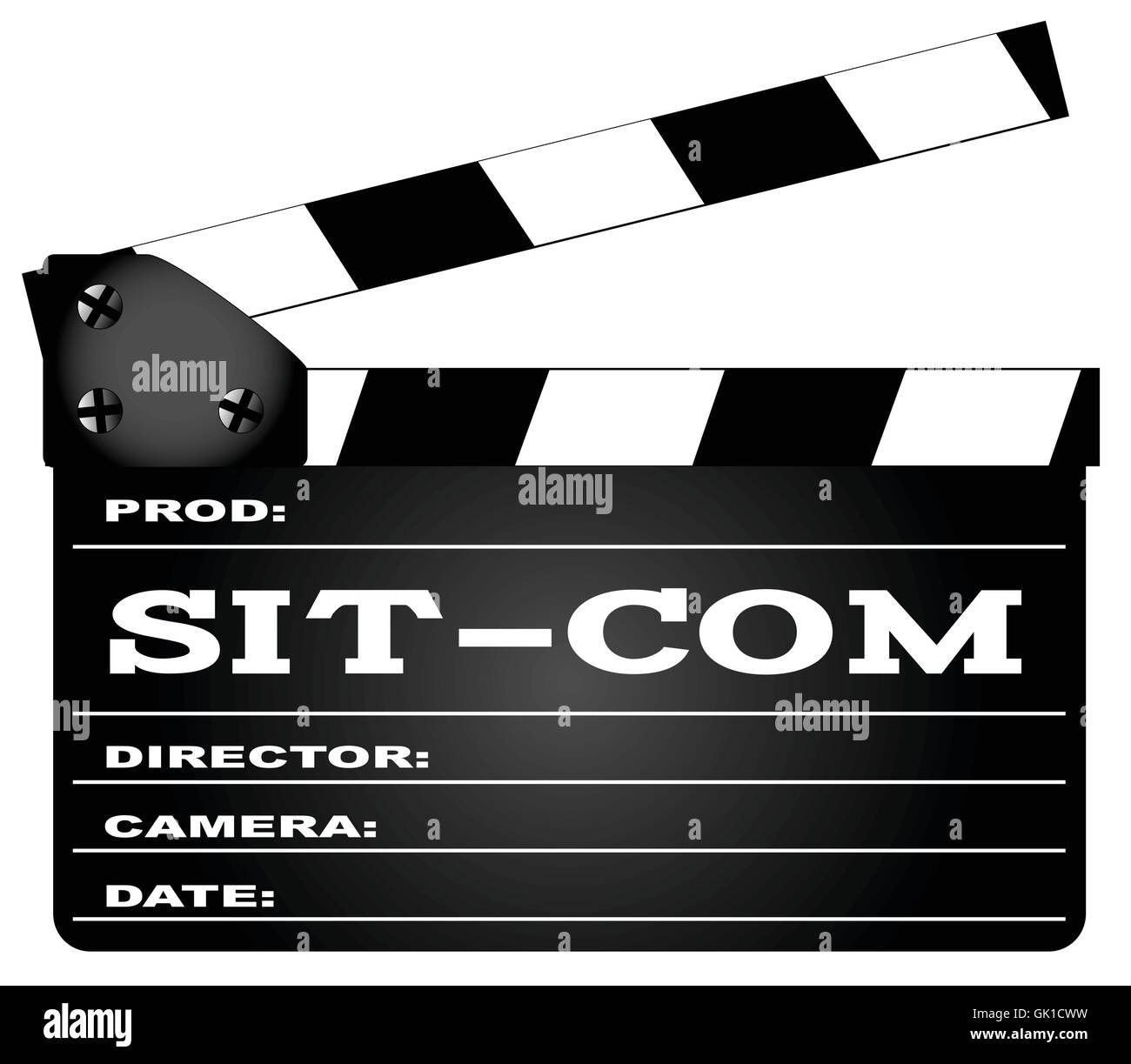 Sitcom Clapperboard - Stock Image