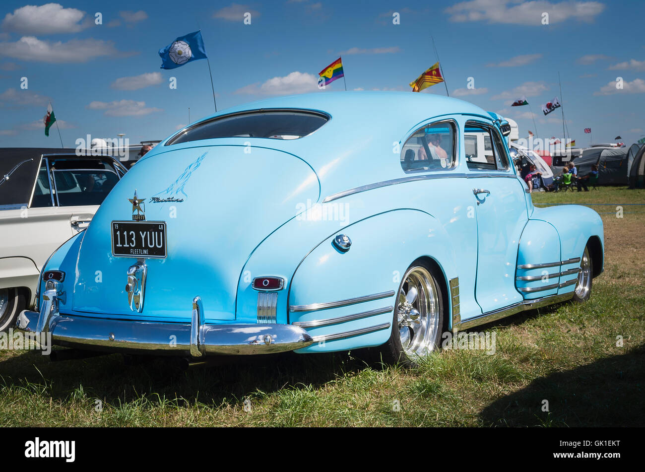 American Fleetline saloon from the 1940s emphasizing its bulbous boot or trunk compartment - Stock Image