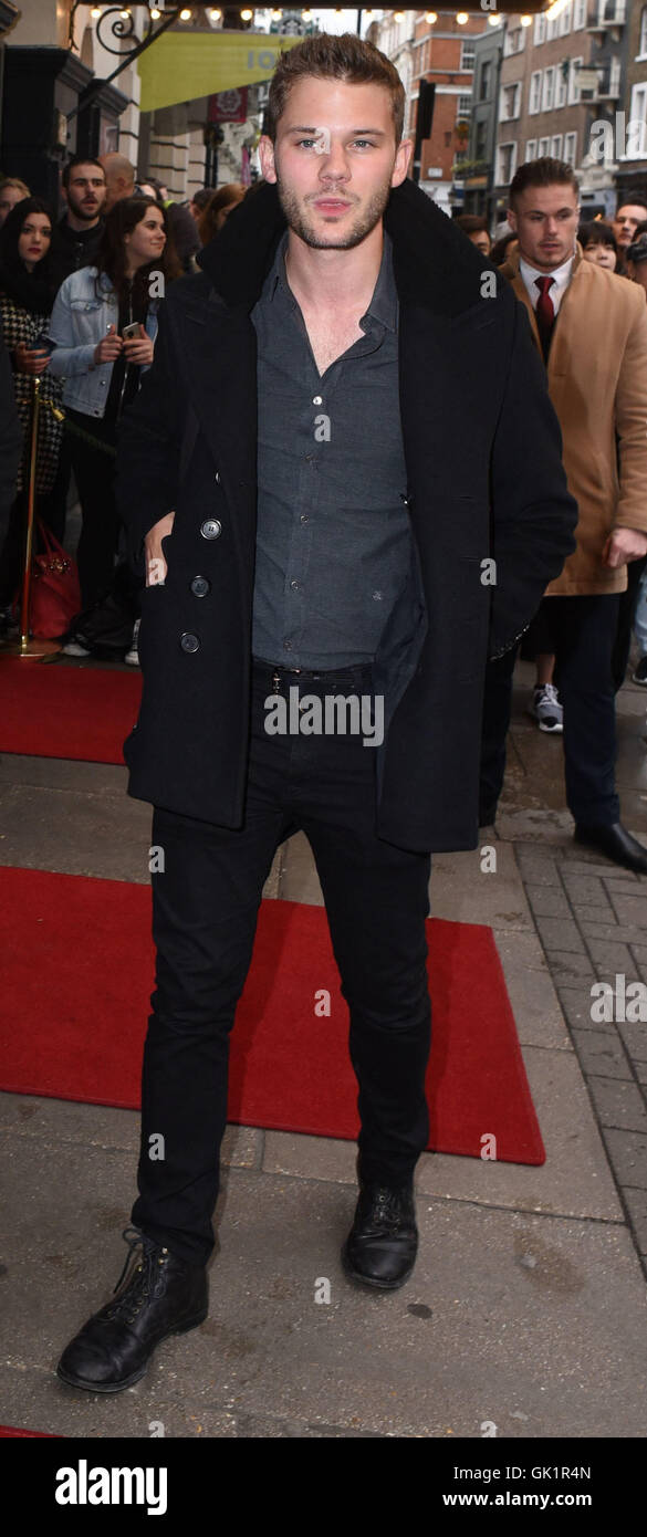 Doctor Faustus gala evening at Duke Of York's Theatre - Outside Arrivals  Featuring: Jeremy Irvine Where: London, - Stock Image