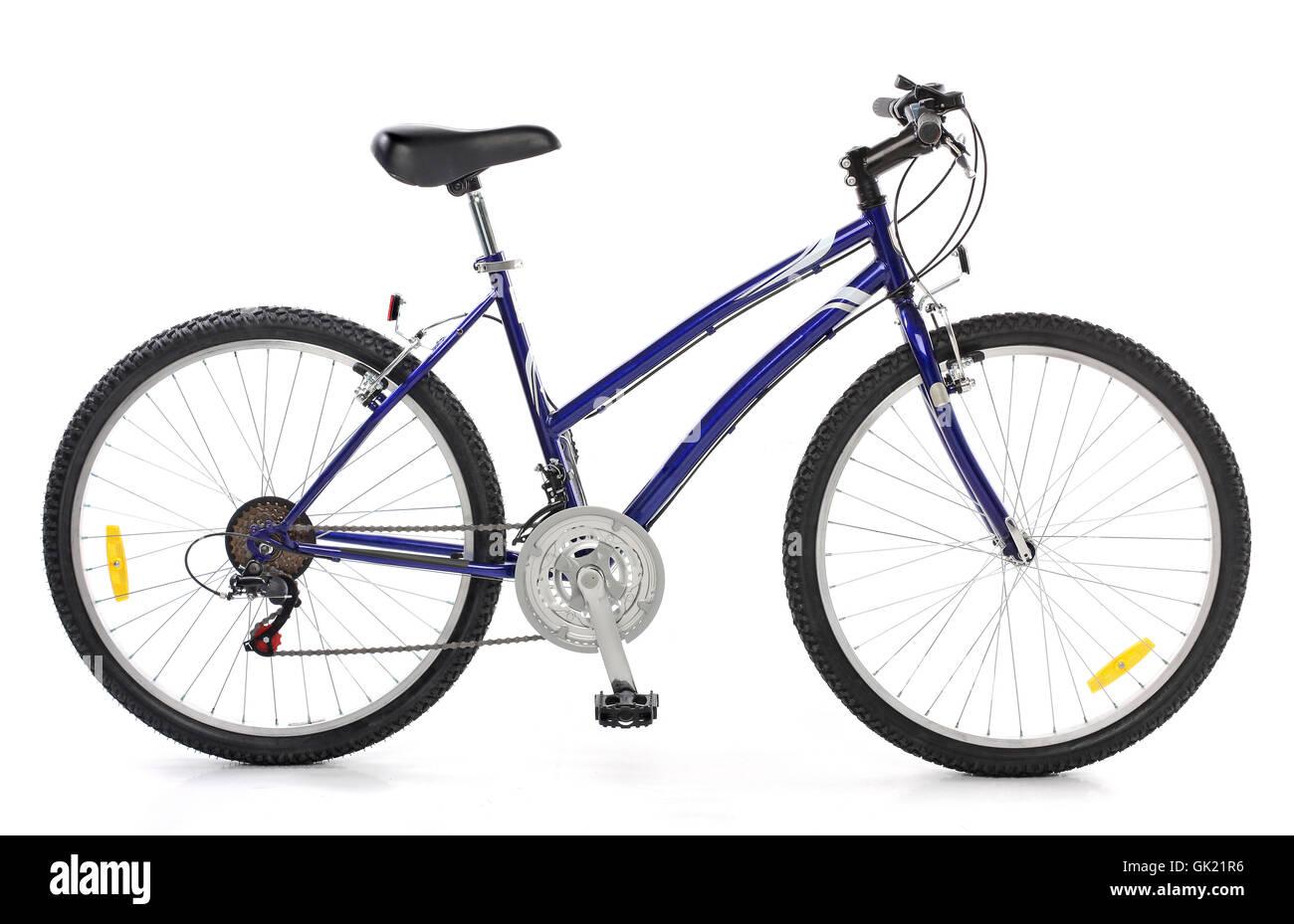 isolated bike bicycle - Stock Image