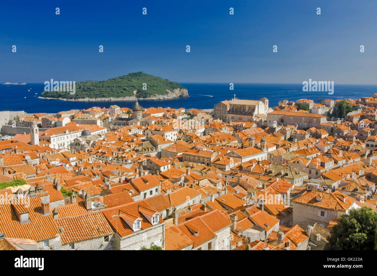 old town summer summerly - Stock Image