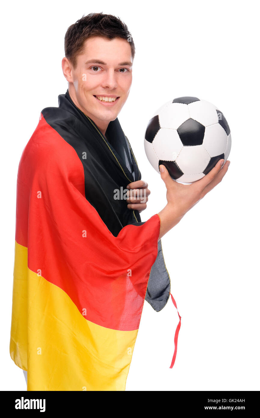 Germany flag football fan flag - Stock Image