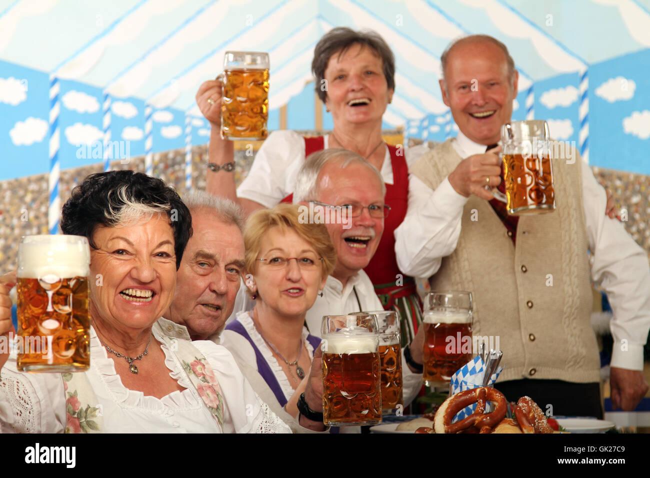 seniors at the wiesn - Stock Image