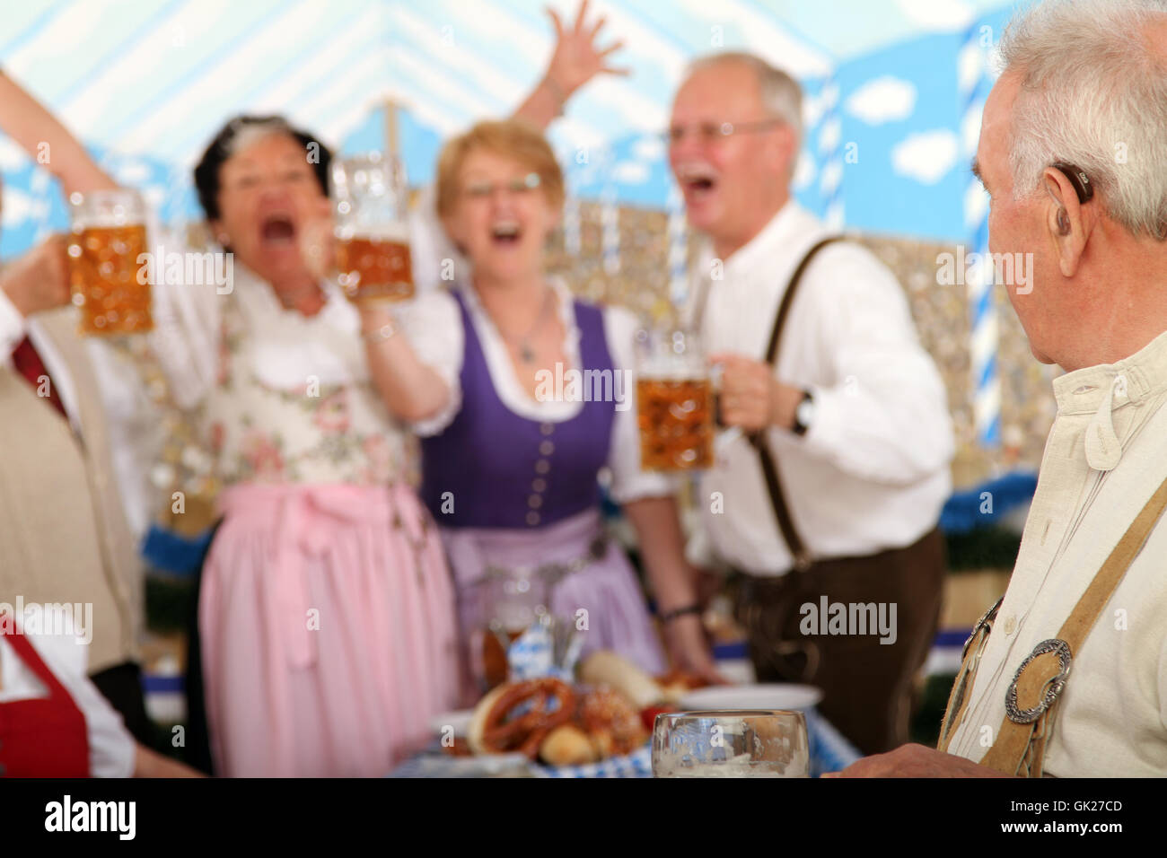 pensioners at the wiesn - Stock Image