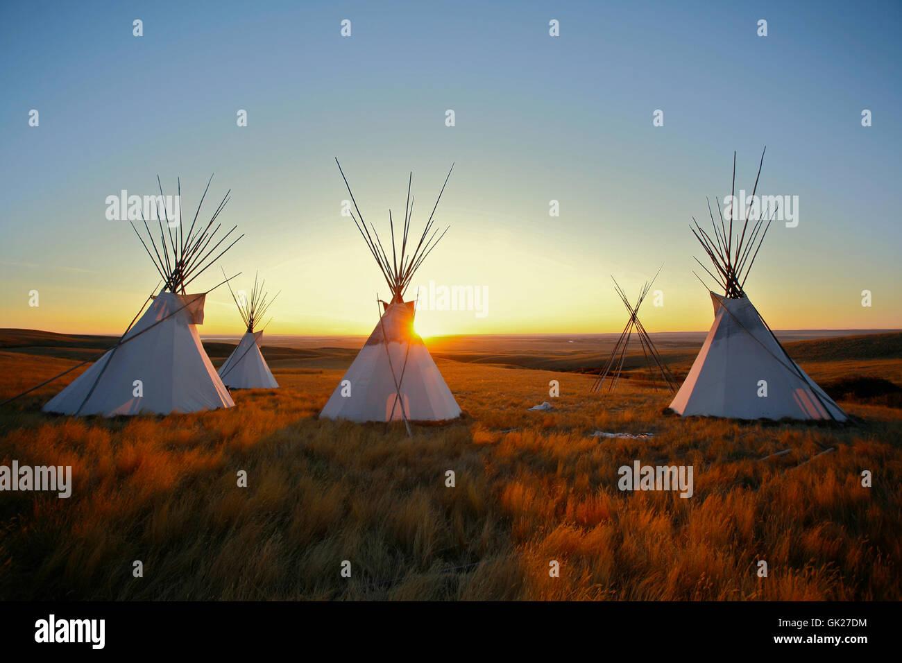 native canada tent - Stock Image