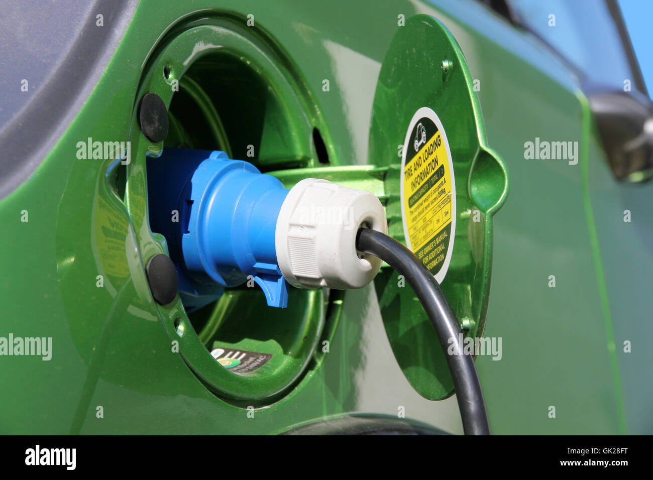 recharge current - Stock Image