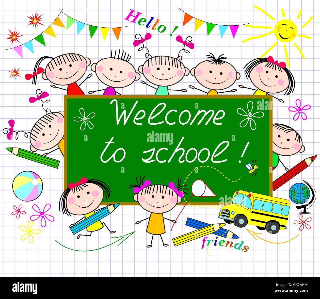 Welcome to school - Stock Vector