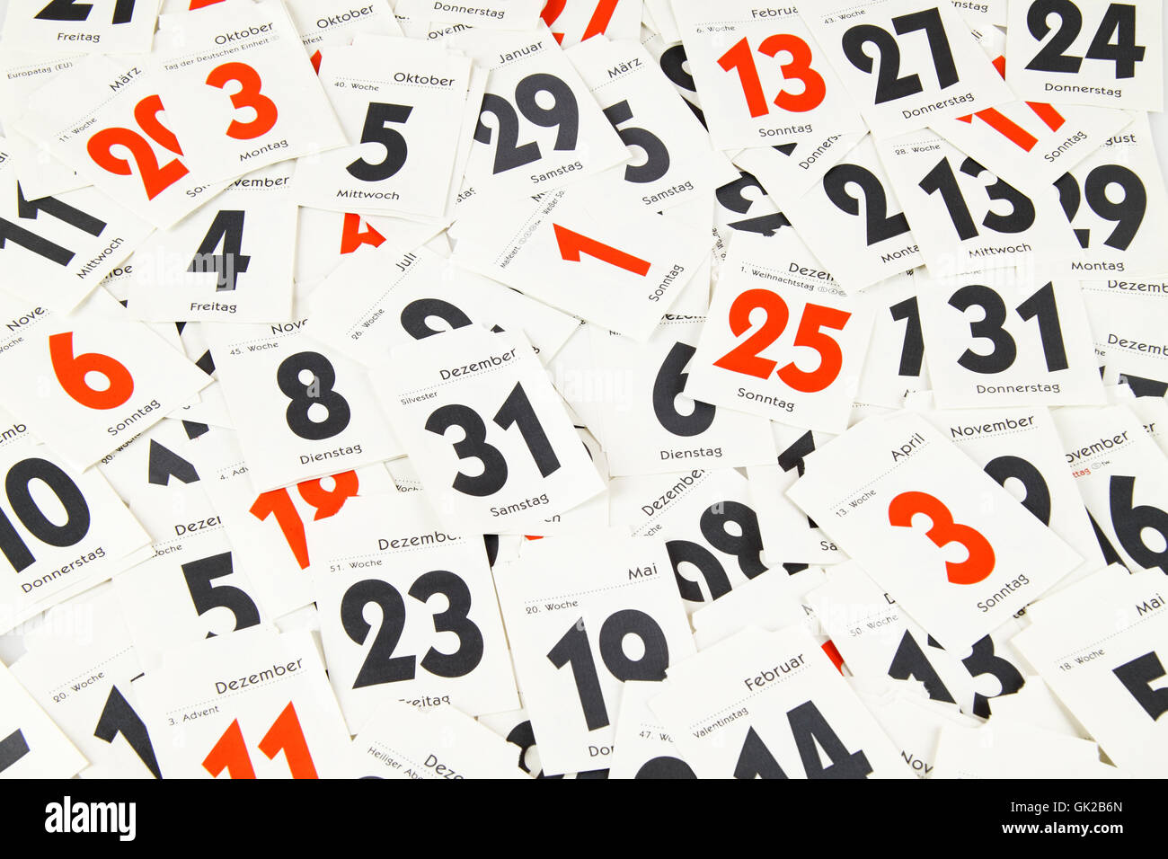 calendar days - Stock Image