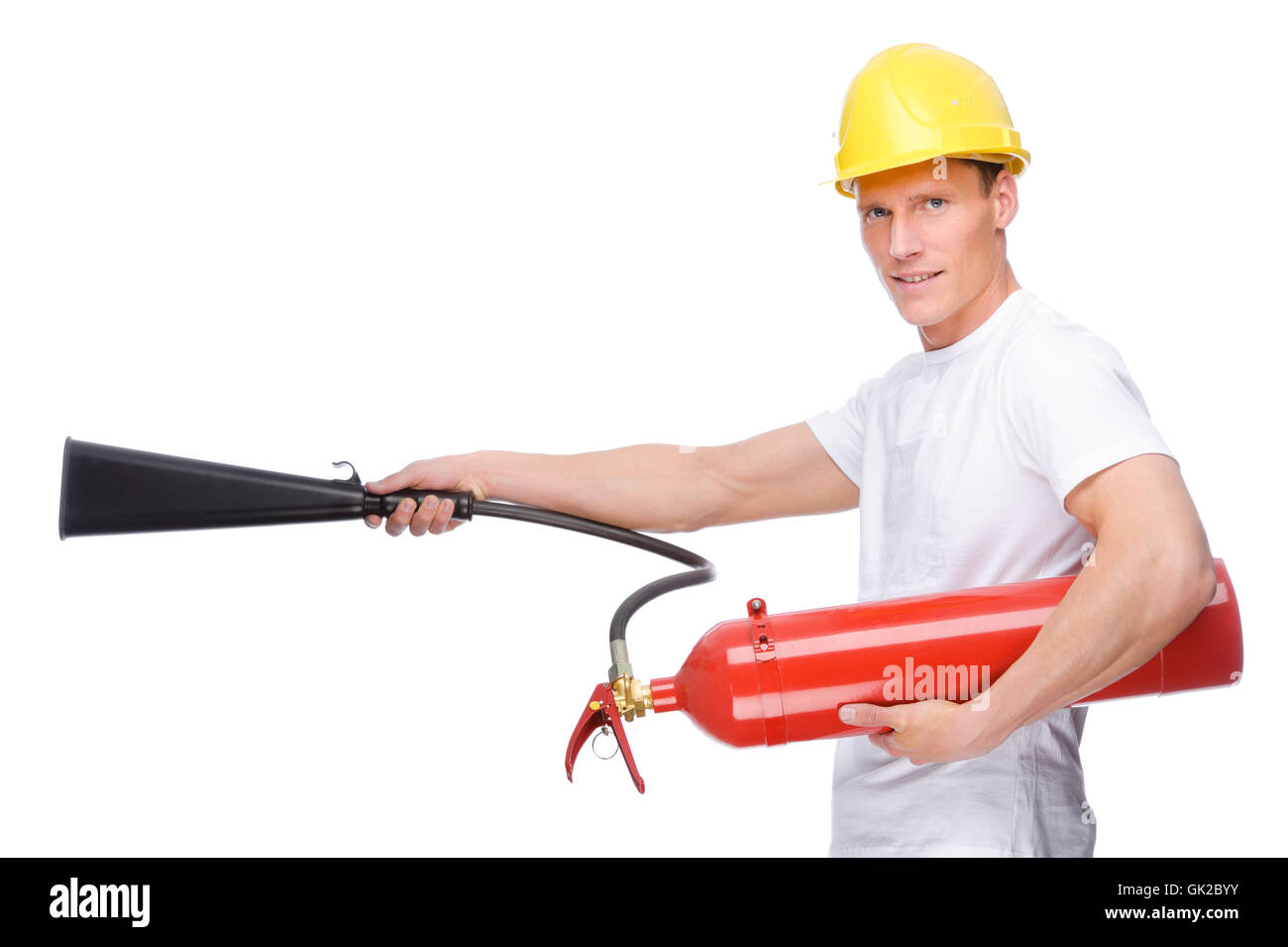 extinguish fire - Stock Image
