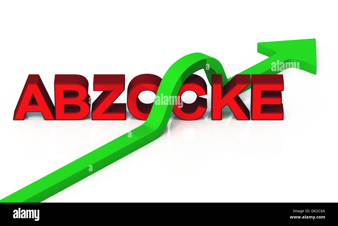 3d rip dodge - green red Stock Photo